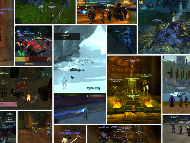 ChromieCraft early players collage